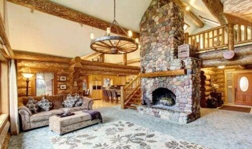 Charmerende landlige huse med en rustik stil