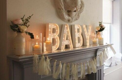 De perfekte farver til et babyshower