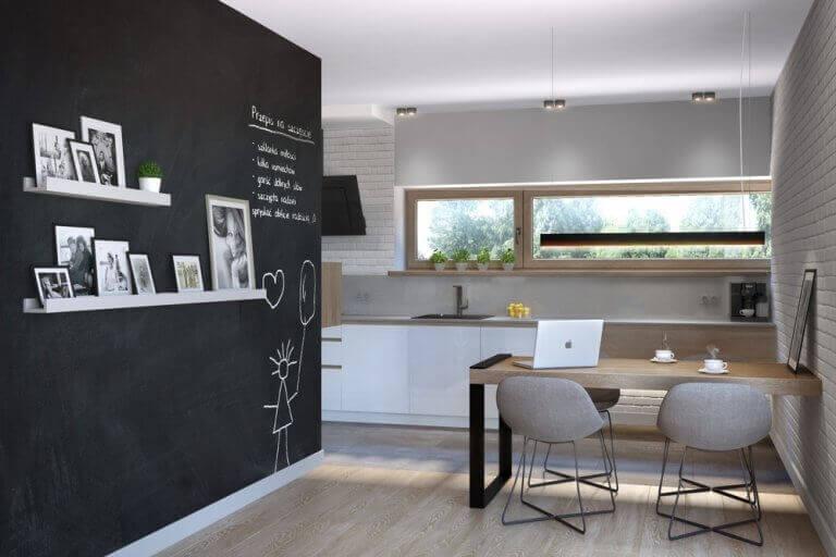 Kridttavler som vægge i din spisestue