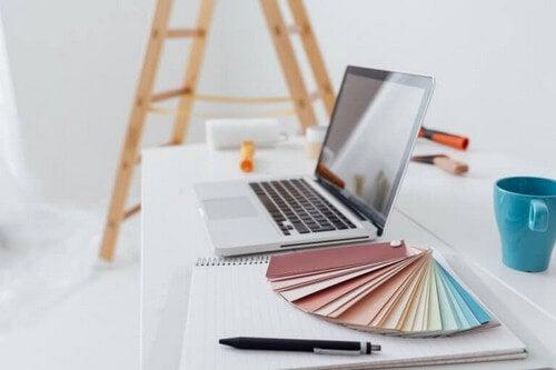 Farveplanlægning på kontoret