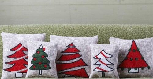Puder til hjemmet med juletema