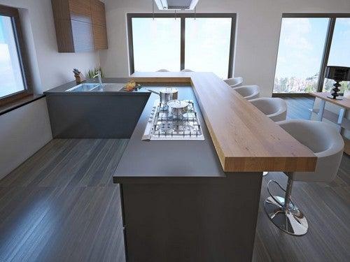 Du kan designe dit køkken med et barområde