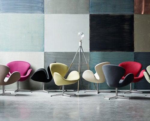 svanestolen i forskellige farver