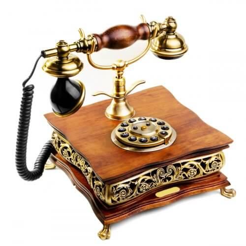 En vintage telefon, et fantastisk ikon indenfor retrostilen.