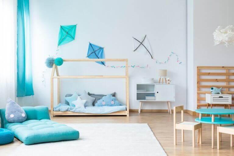 Dekorer dit barns værelse med drager