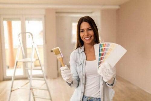 Dekorative maleteknikker til istandsættelse af vægge
