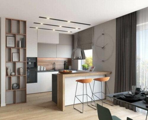 lille og moderne køkken