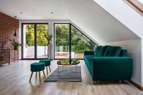 møbler i grøn