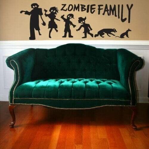 Afrundet sofa i grøn fløjl