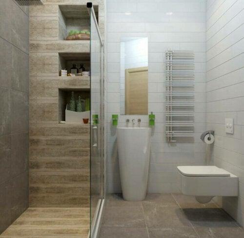 badeværelse med bruser
