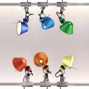 farvet lampe