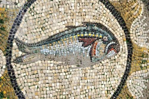 fisk i mosaik