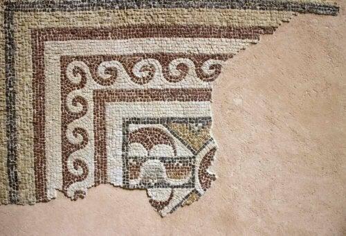 gulv med mosaik