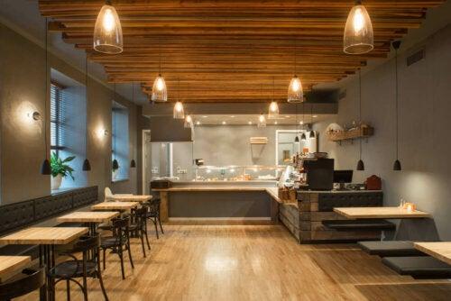 indretning af café