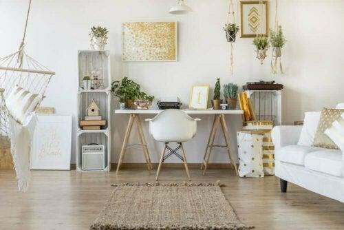 kontor i stue