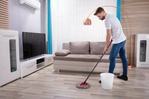 Tips til at vaske gulv på den korrekte måde