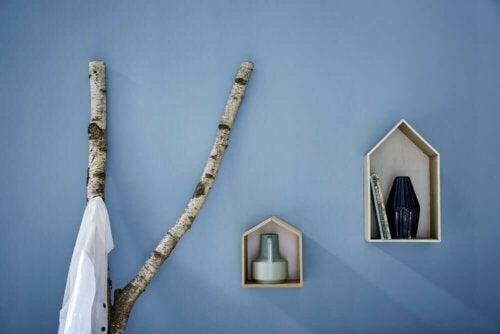 naturligt design til tøjstativer og bøjlestænger