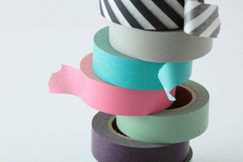 tape i forskellige farver
