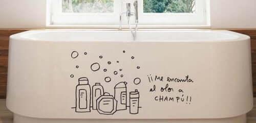 Dekorative accessories til badekar