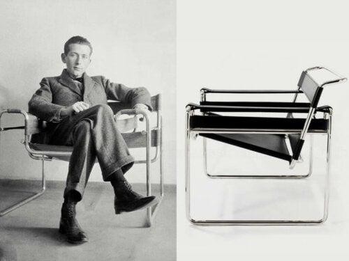 billede af mand og stol