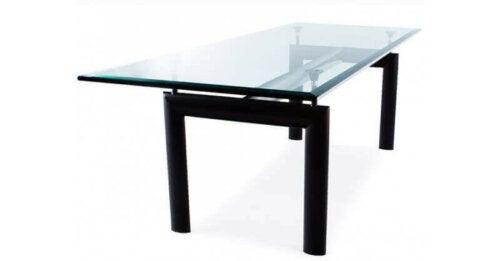 bord med glasplade