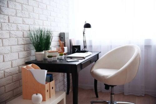 design af hjemmekontor til at arbejde hjemmefra