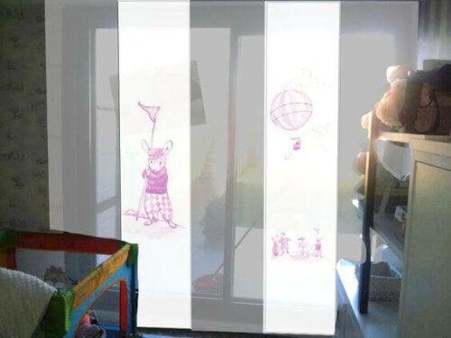 vægdekorationer til børn med inspiration fra Japan