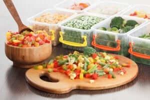 bokse med fødevarer