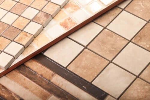 forskellige typer af keramikfliser til et hjem