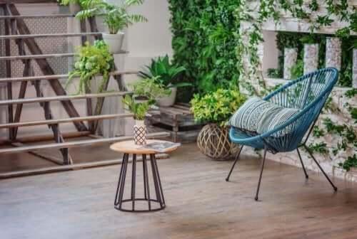 gør din terrasse til et fornøjeligt sted med planter