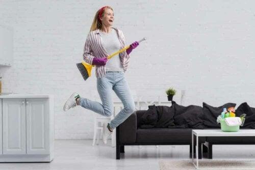 Tips til hurtig rengøring på 60 minutter