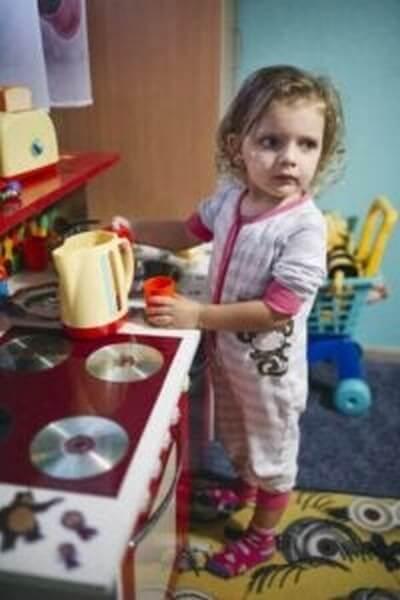 Et børnesikkert køkken er vigtigt i hjemmet