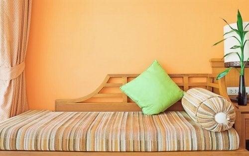Orange er blandt de smukke vægfarver