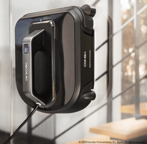En robot til automatisk pudsning af vinduer