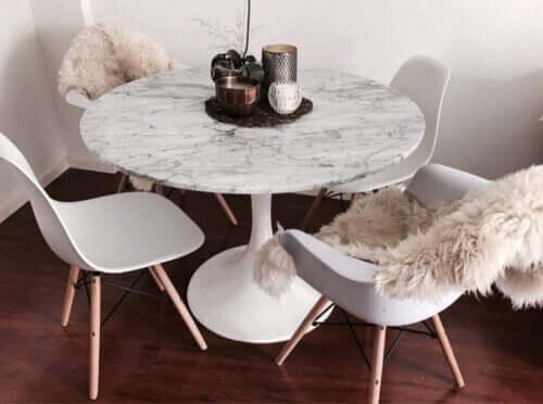 et rundt bord kan også være det perfekte spisebord til dig