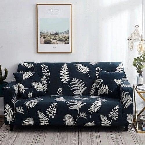 Sofa med bladtryk