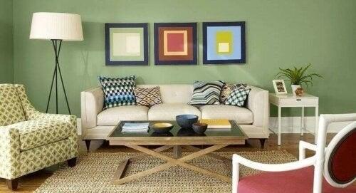 Stue med forskellige farver