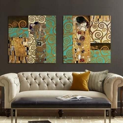 Dekoration inspireret af Gustav Klimt og hans værker