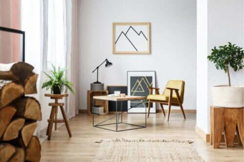 Bland en boheme og rustik stil i din indretning