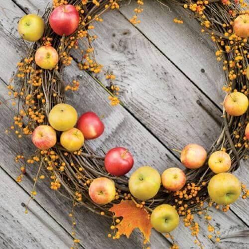 Hvordan du kan bruge æbler til at dekorere med