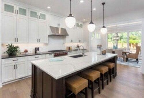 Køkkenbordplader i marmor