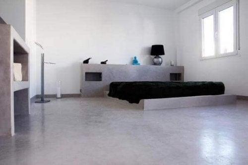 Trendy soveværelse i minimalistisk soveværelse