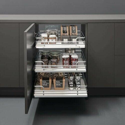 smarte opbevaringsidéer til køkkenet