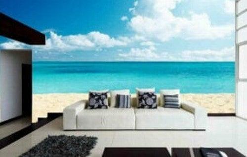 Tapet med stranddesign