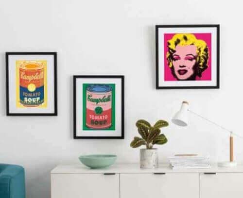 Husholdningsting baseret på kunst af Andy Warhol