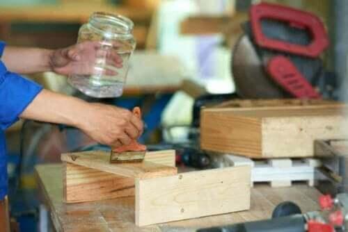Projekter med brug af træbejdse