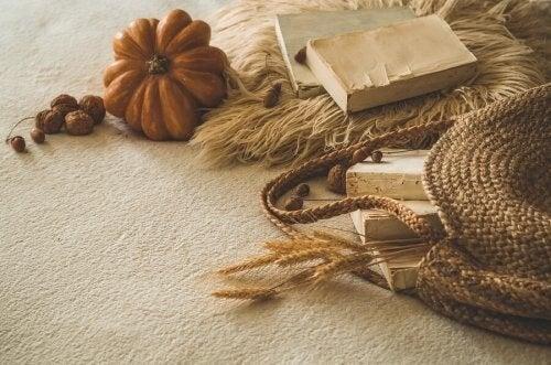 En skøn og efterårsinspireret boligindretning