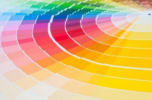 Et stort udvalg af farver