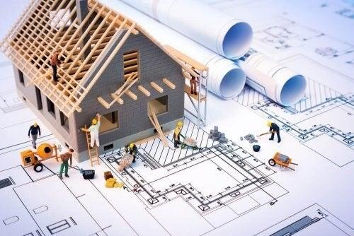Plantegning til renovering af hus