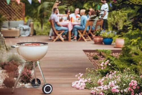 underholdning af gæster på terrasse